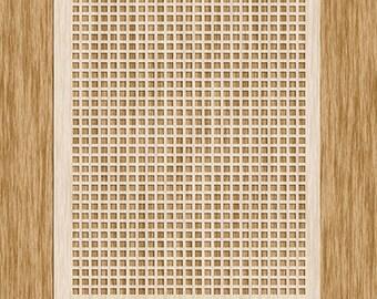 "Square Screen Small Pattern Stencil - Sku P0105 (8.5"" x 11"")"