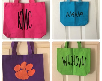 Screen Printed Canvas Tote Bags