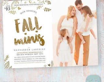 Fall Mini Session Marketing Board - Photoshop template - IW024 - INSTANT DOWNLOAD