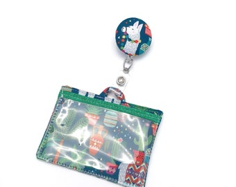 Badge/Id/Cruise Card Holder w Retractable Swivel Clip