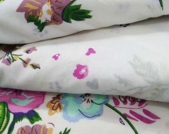 Indian Designer Fabric Crafting Sewing DressMaking fabric White 100%cotton quilting fabric floral print for curtain drape by 1 Yard ZBC6741
