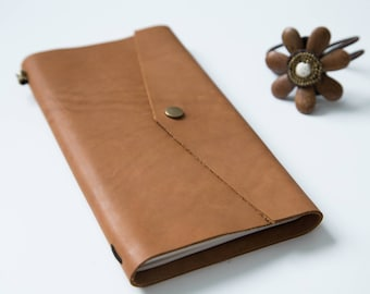 Handmade Notepad with leather cover