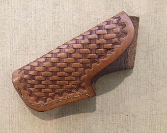 Vintage Handmade Leather Decorated Gun Holster Ed Campos Burkburnett Texas