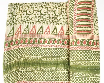 Vintage Indian Kantha Quilt - no. 6