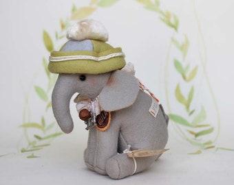 Vintage-Style Elefant aus Filz