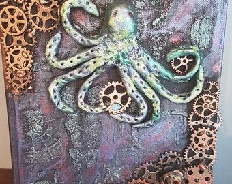 Steampunk Octopus jewellery/key box