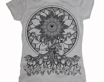 Women's SEER T-Shirt Psychedelic Vision Sacred Geometry Style Tee
