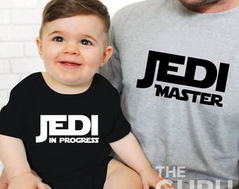 Father and son matching shirts star wars shirt father and baby matching shirts father and son shirts dad and baby shirts jedi master shirt