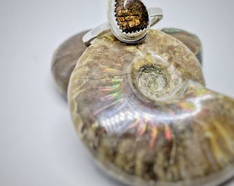 Ammonite Ring // Handmade Sterling Silver  // Gift for Her // One of a Kind