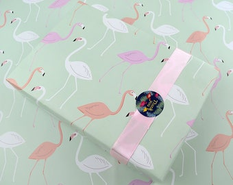 Flamingo Wrapping Paper,Birthday Gift Wrap,Bird Wrapping Sheets,Wedding Gift Wrap,Craft Paper