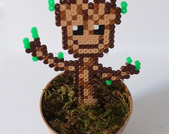 Potted Perler Baby Tree! Inspired by Guardians of the Galaxy!