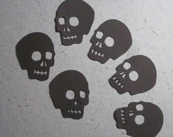 Brown Skull Die Cuts