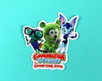 Gummibär & Friends: The Gummy Bear Show Die Cut Sticker ~ Vinyl Sticker