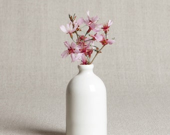 READY TO SHIP : White Minimalist Bud Vase