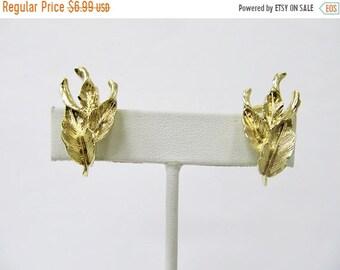 On Sale CORO Vintage Leaf Earrings Item K # 117