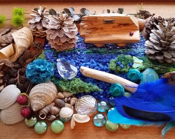 Fairy Beachcomber Kit - Blue Fairy Garden Accessories