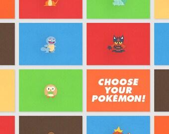 Paper - Papercut Pokémon - Bulbasaur - Charmander - Squirtle - Magikarp - Brindibou - Otaquin - Flamiaou - Mew - 21 x 15