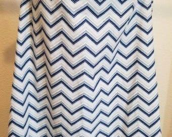 Breastfeeding cover (Nursing Coverup) - Blue/gray chevron