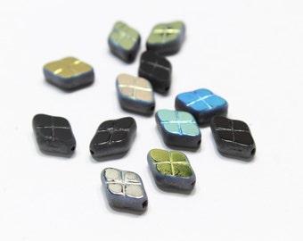 AB Diamond Shaped Crystal Beads 12x8mm 12pcs