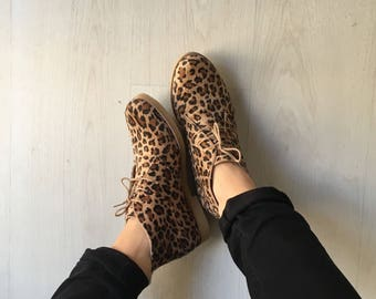 Leopard booties for woman