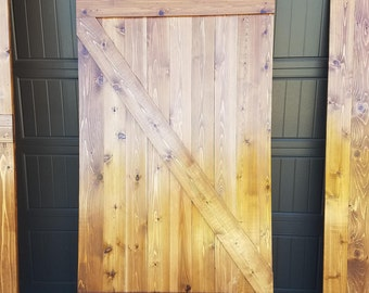 Z-Brace Barn Door, built to order
