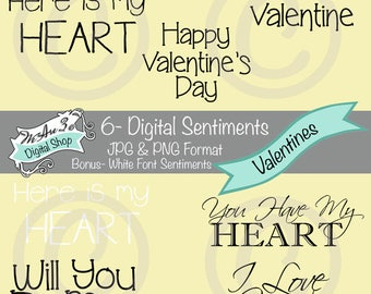 We Are 3 Digital Sentiments - Valentines