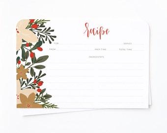 christmas recipe cards