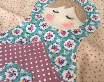 Tote Bag Fabric Medium :Russian Doll