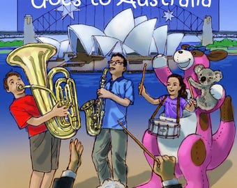 Lisa Goes to Australia - Autographed Children's Book with Your Choice of Message