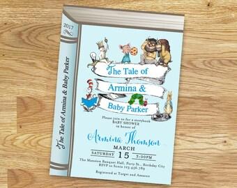 Storybook Baby Shower Invitation for boy // Digital File Only