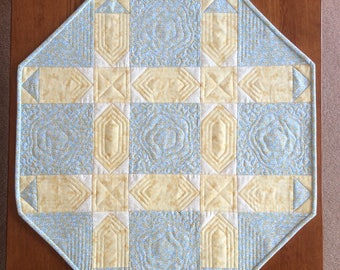 Blue and yellow table topper