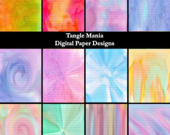 Digital Paper Designs - Lined Writing Paper - Variety Pack #1