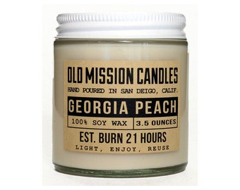 Candle - 4 oz - Georgia Peach - Soy Candle - Scented Soy Candle - Old Mission Candles