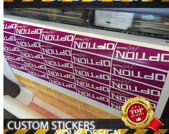 Custom stickers labels