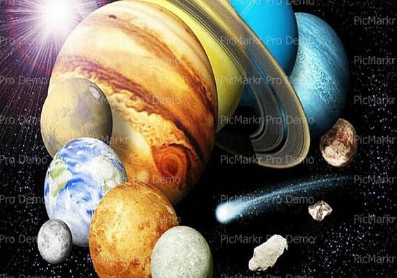 Solar System - Edible Cake and Cupcake Topper For Birthday's and Parties! - D9506