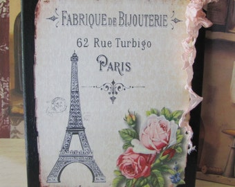 Paris Bedroom Decor Sign, Pink Roses French Country, Vintage French Decor Sign, French Bedroom Decor, Paris Decor Sign, Wall Decor