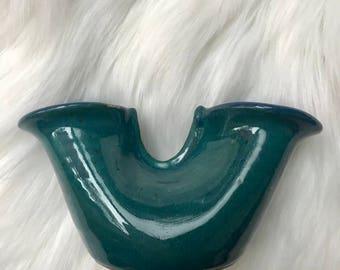 blue/green handmade bud vase