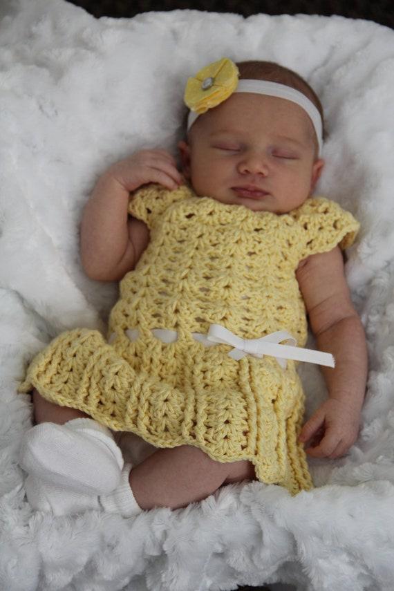 Beautiful Olivia Ann Dress Crochet Pattern Sizes Newborn And