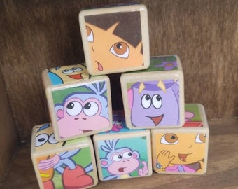 Dora the Explorer//Children's book //wood play blocks //Story books //Nursery toy