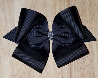 Large Black Hair Bows