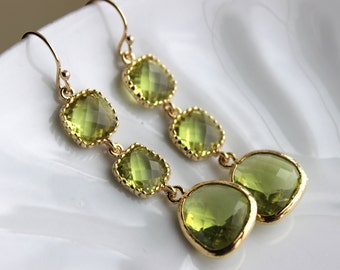 gemstone stone drop peridot p cut earrings round white gold diamond