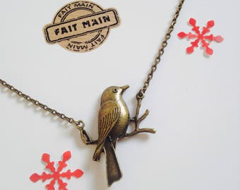 Necklace, bronze, bird, nature, women pendant