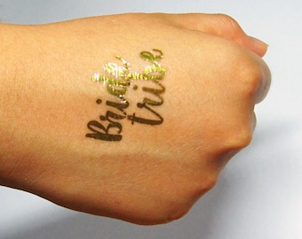 """20 x Metallic Gold """"Bride Tribe"""" Hens Party Temporary Tattoos"""