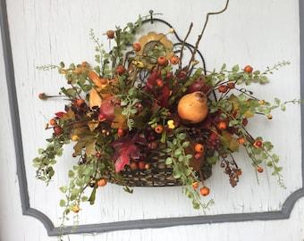 Fall floral hanging or sitting  arrangement. Front door wreath, indoor floral, back door ,table arrangement,