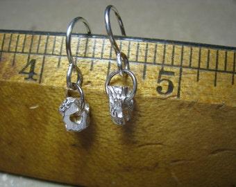 Fine Silver Nugget Earrings - Fine Silver Earrings - Chunky Earrings - Rustic Earrings - OOAK Earrings
