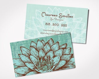 Customizable business cards logos and banners by zyndiepop on etsy best seller design lotus card promo for yoga teacher certified yoga instructor card mightylinksfo