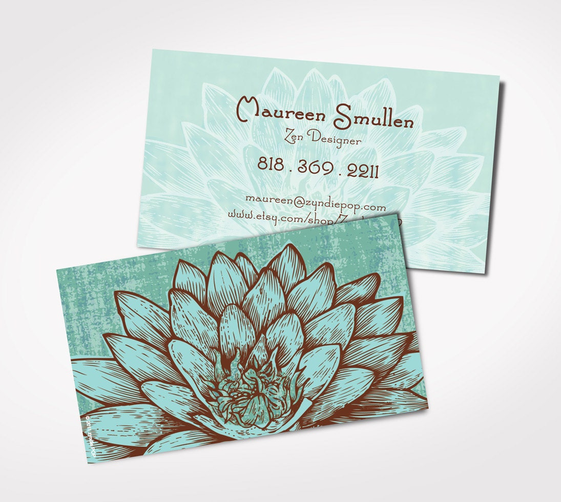 Best Seller Design Lotus Card Promo for Yoga Teacher