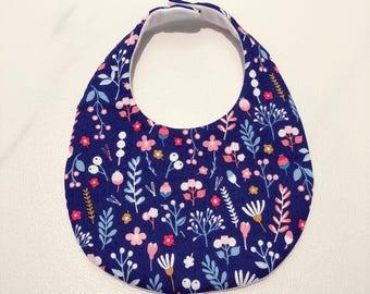 Baby Bib, Blue Floral