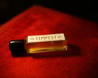 TEMPEST in a Bottle, natural Perfume , unisex perfume, essential oil perfume,  natural and organic perfume oil