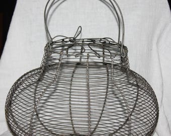 Vintage French Style Wire Egg Basket